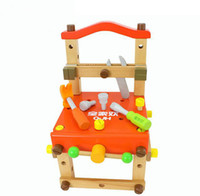 Wholesale Wooden Toy Wood Chair Detachable Tool Kids Early Education Toy Blocks C336 Free DHL
