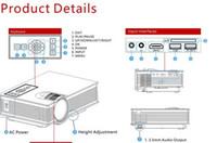 Projecteur vendeur chaud WIFI Portable LED Vidéo Projecteur de cinéma maison VGA / USB / SD / AV / HDMI Wireless Mini Pocket Projector