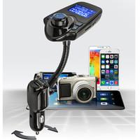 Wholesale New T10 Car Wireless MP3 FM Transmitter LCD Display Bluetooth V3 EDR Handsfree Kit Support U Disk FLAC TF Card DHL OTH339
