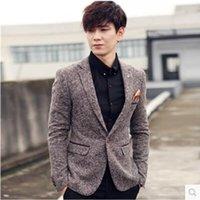 Vente en gros - Hommes Suit Business Hommes Formal Mode Veste Blazer Plus Taille M-3XL Slim Fit Suit Blazer Marque Hommes Veste Casual Homme