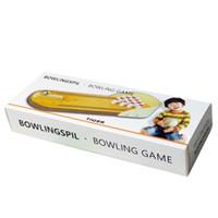 Wholesale Mini Desktop Bowling Game Set Wooden Bowling Alley Ten Pin Ball Desk Toy