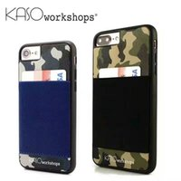 apple workshops - Kaso Workshop Card Pocket Convenience Cell Phone Cases For iPhone6 s iPhone6 Plus iPhone7 Plus Fashion Camouflage Design