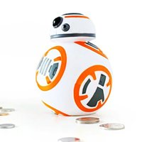 bb bank - 14cm Star Wars BB8 BB Cute Coin Bank Piggy Bank Money Saving Box Money box Figure Box Toy For Kids The Halloween gift