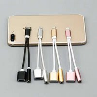 Wholesale iphone Adapter Cable mm in Lightning to Aux Headphone Jack Audio Parts For iPhone iphone Plus