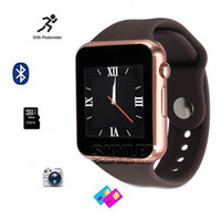 Wholesale Smartwatches A1 Bluetooth Smart Watch Waterproof Smart Watch For iPhone Android Cell phone SIM Card Intelligent Mobile Phone Watch in Box