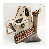 american indian navajo - Navajo Geometric rugs throw thread towel blanket American Indian tribal ethnic Aztec cotton woven home decor bohemian