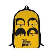 big bag theory - The Big Bang Theory Womens Mens Backpack Fashion TV Series Children School Bags Cartoon Kids Students Book Bags