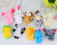 Wholesale 500pcs DHL Fedex Velvet Plush Finger Puppets Animal puppets Toys finger puppet Kids Baby Cute Play Storytime Assorted Animals