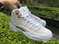 Wholesale Air shoes Jordan XII retro ovo white basketball shoes man White Black Retro jordans Athletics Trainers Sports Sneakers Fashionable sho