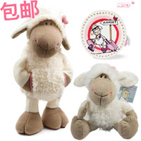 bedtimes stories - NICI plush toy stuffed doll cute Jolly Mah Dolly sheep head flower cloth with pocket animal parent child bedtime story gift pc