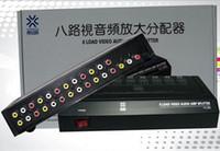 8 voies 1 en 8 sorties 3 RCA vidéo audio amplificateur AV Splitter HDTV DVD VCD 8 ports charge AV commutateur