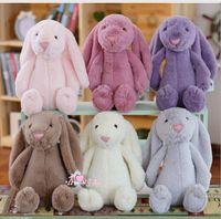 achat en gros de valentines mignon en peluche-30 cm Creative Bunny Soft Peluche jouets Poupées Lapin jouets Cute Long Oreilles lapin Pâques Valentine's Gift 6 couleurs KKA1240