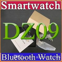 Wholesale 10X DZ09 Smart Watch Bluetooth Smartwatch Wrist Watches Phone Support SIM Card Sport Wristwatch Pedometer for iPhone Android Smartphone B BS