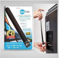 Wholesale Clear Tv key HDTV digital indoor antenna sleek slim design hidden behind TV Get broadcast tv for free OM I6