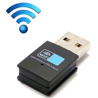 al por mayor adaptador de red inalámbrico externo-Mini adaptador de la tarjeta de red del negro 300M del USB WiFi 300Mbps adaptadores externos 802.11 n / g / b 50pcs de alta calidad libre DHL