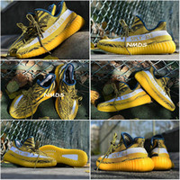 Cheap Adidas Yeezy 350 V2 Boosts Best 1:1 Yezzy SPLY 350 Boost V2 Yeezys New Kanye West YZY Boost 350V2 SPLY Season 3 Running Shoes Yellow Stripes