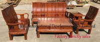 african wood furniture - Home sofa in one set antique living room furniture patternless african rosewood sofa sets