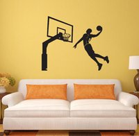Wholesale Basketball Dunk Sports Wall Stickers PVC Art Wall Decals DIY Playing Basketball Home Decor for Living room Bedroom Children s room