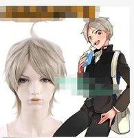 achat en gros de cendres courte perruque blonde-Livraison gratuite! Nouvelle Belle Mode nouveau Haikyu! Koshi Sugawara courte Ash Blonde Anime cosplay perruque