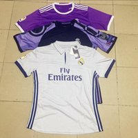 Wholesale Top thai quality real madrid soccer jerseys real madrid shirts home away third RONALDO BENZEMA JAMES BALE RAMOS football shirt
