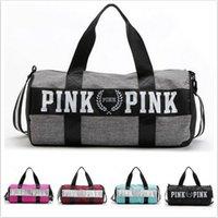 Wholesale Fashion Women Handbags Love VS Pink Large Capacity Travel Duffle Striped Waterproof Beach Bag Shoulder Bag