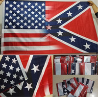 Wholesale New cm American Flag with Confederate Rebel Civil War Flag new style hot sell x5 Foot Flag Free Fedex DHL I034