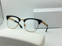 al por mayor marcas de gafas de diseño-Nuevo diseñador de la medusa de la lente del V2172 de la vendimia de los vidrios de la marca de fábrica del steampunk de la prescripción de los vidrios de la marca de fábrica semi-rimless que la cara grande se destaca diseño