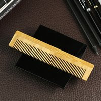 Wholesale Natural green health care comb bamboo Resort Hotel Boutique Inn Hostel one time comb