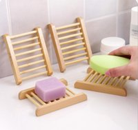 Wholesale Big discount Natural Wooden Soap Dish Plate Tray Holder Box Case Shower Hand washing in stock