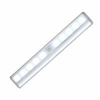 Rechargeable Battery battery motion sensor light - 10 LED Wireless Motion Sensing Light Bar with Magnetic Strip Stick on Anywhere Battery Operated Night Lamp Sensor lights
