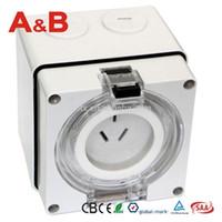 australian socket - New Australian standard A Single phase Flat Pins Industrial waterproof Switched Socket
