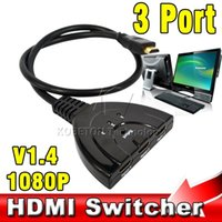 automatic switcher - High Speed HD Port b HDMI Switcher HDMI Splitter HUB for HDTV HD DVD PS3 Xbox up to P V1 Automatic Switch