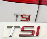 Wholesale VW OEM TSI Rear Emblem Inscription Badge Sticker Fit For VW SKODA Octavia Superb YETI ABS Chrome
