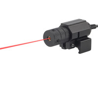 Wholesale 1Set Tactical red dot Mini Red Laser Sight With Tail Switch Scope Pistol with Lengthen Rat Tail Hunting Optics new arrival