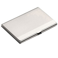 Wholesale Waterproof Stainless Steel Metal Case Box Business ID Credit Card Holder Case Cover AA