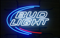 Wholesale Bud Light Beer Real Glass Neon Light Sign Home Beer Bar Pub Recreation Room Game Room Windows Garage Wall Sign w h