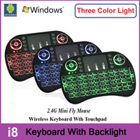 air mouse keyboard tv - Rii I8 Wireless Backlight Mini Keyboard Air Mouse Multi Media Remote With Touchpad Handheld For S905X S912 TV Box TX3 Pro X96 T95