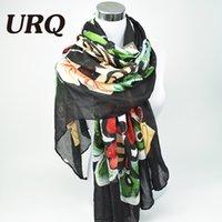 Grossiste-Marque Designer 2016 luxueux écharpe papillon Femme Long Twill Coton Big Echarpes Châle X9A18436