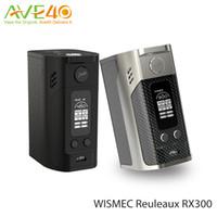 Wholesale Original Wismec Reuleaux RX300 TC Box Mod Carbon Fiber W Output Power inch OLED Screen VS RX2
