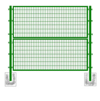 Wholesale 70x150mm Green PVC Coating Framed Fence High Quality Low carbon Welded Wire Mesh Fence Beautiful Fence for Highway Playground and Garden
