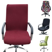 Arm Chair armchair arm covers - New Design Office Computer Chair Cover Stretch Armchair Covering Machinary Washable Chair Slipcover JC0287