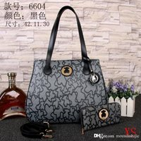 Wholesale 2017 New PU tote bag with women coin purse custom made fashion pu tote colorful women handbag bag