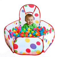 Wholesale New Children Kid Ocean Ball Pit Pool Game Play Tent In Outdoor Kids House Play Hut Pool Play Tent for Christmas