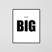 big picture thinking - Quote Think Big Quote Canvas Art Print Poster Wall Pictures for Home Decoration Frame not include