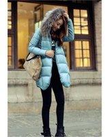 Hoodie de la fourrure pour les femmes France-2017 hiver col fourrure longue veste pour femme Slim mode Red Parka Hoodies duck out veste manteau
