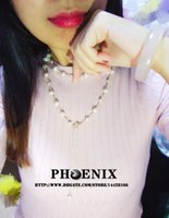 Wholesale Famous Brand cc with logo Top Grade real Pearl choker necklace with K Gold Plated Chokers Nacklace For Women vintage long necklace jewelry