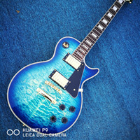 Wholesale Customized album Blue Limited Edition electric guitar high quality musical instrument OEM electric guitar real