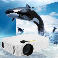 Venta al por mayor-Proyector GP - 9 2000 lúmenes 1920 x 1080 píxeles portátil HD LCD proyector Home Business Educación Ingeniería proyector de teatro