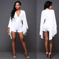 beauty bats free - Big Size New dresses sexy deep V neck bat sleeve cloak dress very hot design jump suit for beauty