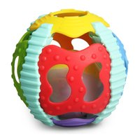 Baby Kids abs activities - Sound and Colorful Light Soft Activity Ball Baby Toddler Teether Rattles Made of ABS plastic of non toxic